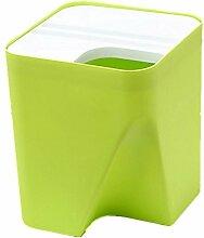MNII Hotel Kunststoff Stapelbar Sortierung Mülleimer kreativ Körbe zu Hause Desktop Küche groß , green