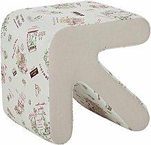 MNII Kreativ Holz Pfeilhocker Sofa Hocker Bettende Hocker Niedriger Stuhl Wechselnde Schuhe Hocker Haushalt Klein 33 * 33 * 31cm (groß 40 * 40 * 36cm) , - small suihua cloth - l- Schöne Möbel
