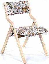 MNII Kreativ Massivholz Sessel Klappstuhl Freizeitstuhl Schreibtisch und Stuhl Haushalt Essensstuhl Restaurant Erwachsene 46 * 41 * 42.5cm , the flowers- Schöne Möbel