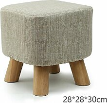 MNII Kreative Mode Wechselnde Schuhe Hocker niedriger Stuhl Quadratischer Stuhl Massivholz Sofa Haushalt Kaffetisch Erwachsene 28 * 28 * 30CM , 2- Komfortables Zuhause