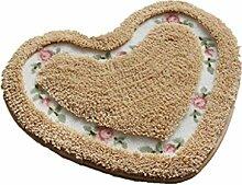 MNII Ländlich Rose Wenig Liebe Teppich Schlafzimmer Türmatten Wasseraufnahme Rutschfest Fußauflage Kissen Teppiche , 45cm*50cm- Geeignet für Home Dekoration