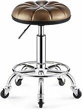 MNII Moderne Küchenhocker mit Metallbeinen Hochhocker Barhocker PU Seat Frühstücksbarren, keine Rückseite 360 Grad schwenkbar Auf und ab hoch, Höhe 50-64cm , 10