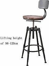 MNII Retro Küche Hocker mit Metall Beine High