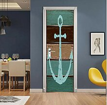 MNJKH Tür Aufkleber Tapete Wandbild, kreative
