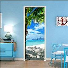 MNJKH Tür Aufkleber Tapete Wandbild, Moderne