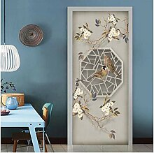 MNJKH Türaufkleber Wandbild, chinesische Stil