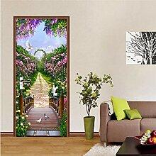 MNJKH Türaufkleber Wandbild, Hirtenpflanze