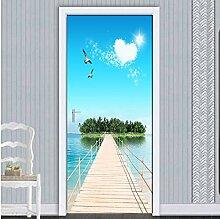MNJKH Türaufkleber Wandbild, Innentür Aufkleber