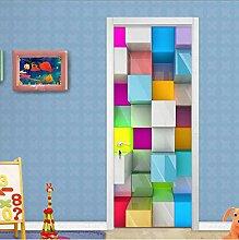 MNJKH Türaufkleber Wandbild, Wandbilder Tapete 3D