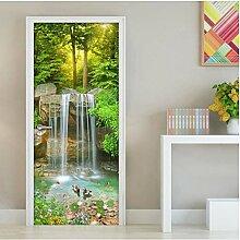 MNJKH Türaufkleber Wandbild, Wasserfall 3D