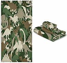 MNSRUU 3-teiliges Handtuch-Set, Camouflage,