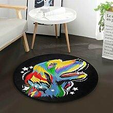 Mnsruu Fußmatte, Hund Runde Teppich für