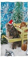 Mnsruu Handtuch Hamster In Santa Hats Badetuch