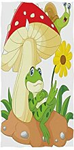 Mnsruu Handtuch mit Cartoon-Frosch, Schnecke,