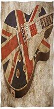 MNSRUU Handtuch mit Gitarre, Motiv Union Jack,