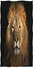 Mnsruu Handtuch mit Löwenmotiv, weich, für Bad,