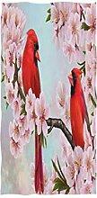 MNSRUU Handtuch mit Vogel auf Baum, Kirschblüte,