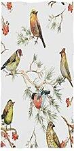 MNSRUU Handtuch mit Vogel-Wald, Weihnachtsmotiv,