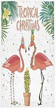 MNSRUU Handtuch mit Weihnachts-Flamingo, Ananas,