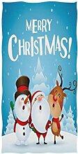 Mnsruu Handtuch mit Weihnachtsmotiv und