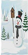 Mnsruu Handtuch Schneemann und Baum Badetuch