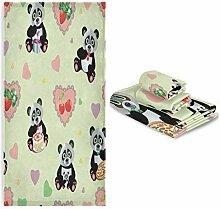 Mnsruu Handtuch-Set, Pandabär mit Herzen,