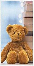 MNSRUU Handtuch, Teddybär mit Büchern, Badetuch,
