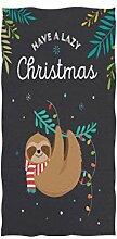 Mnsruu Handtuch Weihnachten Faultiere Badetuch