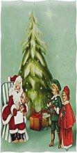 Mnsruu Handtuch Weihnachtsmotiv Santa Badetuch