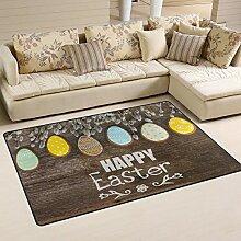 MNSRUU Happy Ostern Hase Holz Eierteppich