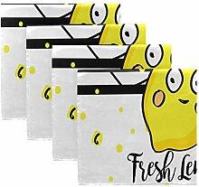 MNSRUU Lustige frische Zitronenstreifen,
