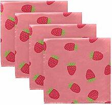 MNSRUU rosa Erdbeere Stoffservietten Abendessen