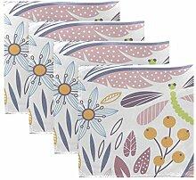 MNSRUU Stoffservietten mit Blumenmuster und