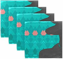 MNSRUU Stoffservietten mit geometrischem