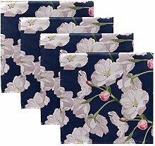 MNSRUU Stoffservietten mit Kirschblüten,