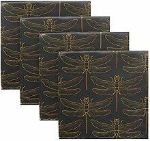 MNSRUU Stoffservietten mit Libellen-Motiv,