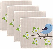 MNSRUU Stoffservietten, Motiv: Vögel, verliebt,