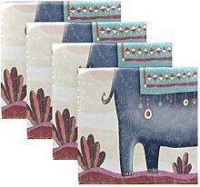 MNSRUU Stoffservietten, niedliche Elefanten mit