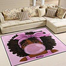MNSRUU Teppich, amerikanisches Mädchen mit