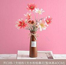 MOBDY Künstliche Blume Massivholzeimer vergossen