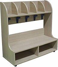 Mobeduc 5Bench Schuhmacher Garderobe, Holz,