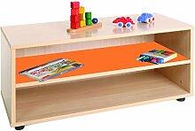 mobeduc 600101hp19Waschtisch Kinder superbajo/Regal Holz Buche/Orange 90x 40x 44cm
