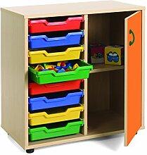 mobeduc 600211hps19Waschtisch Kinder unter/cubetero und Schrank, Holz, Buche und Orange, 90x 40x 76,5cm