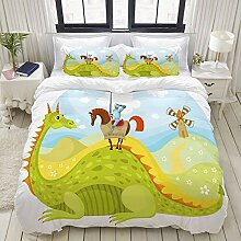 MOBEITI Bedding Bettwäsche-Set,Ritter Don Quijote