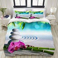 MOBEITI Bettwäsche-Set,Sand-Orchideen-und