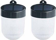 Mobestech 2pcs Solar Außenleuchte LED Solar