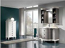 Mobile Badezimmer Möbel Massivholz Handarbeit lackiert mit Spiegel–Wie Foto