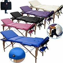 Mobile Massagetisch Massageliege 195 x 70 cm.