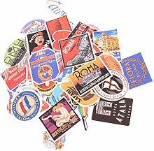 Mobile Phone Stickers - Mix 55pcs Retro El Logo