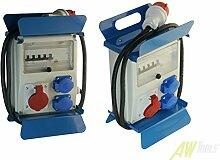 Mobiler Baustromverteiler 2 x 230 V /16A x 1CEE16A/400V + 2m Kabel + FI & LS